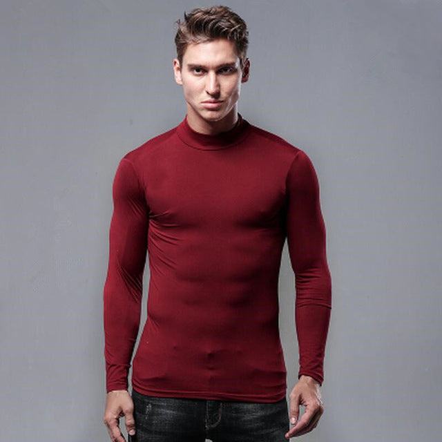red half turtleneck