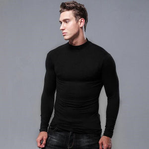 Top,Fashion Turtleneck T-Shirts