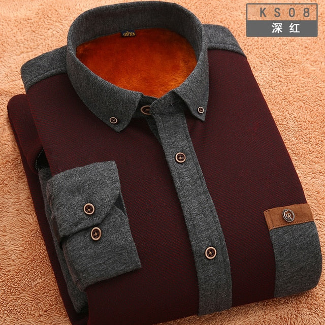 Winter Warm Slim Shirt - fazbima
