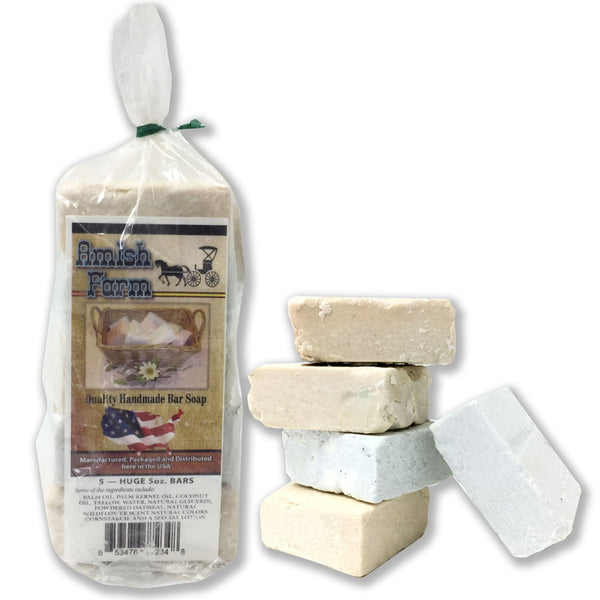 All Natural Amish Farms Soap - 5 Pack - 400 pc Lot