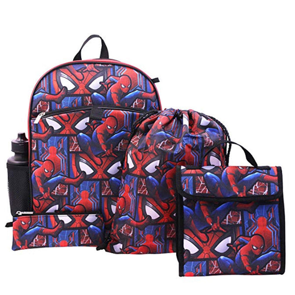 Spiderman Backpacks- 5 pack - 24 pc Lot