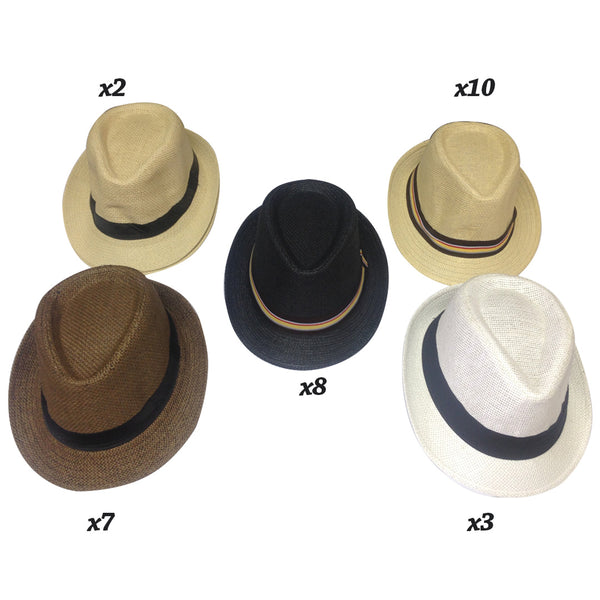 One Size - Assorted Fedoras - 30 pc Lot