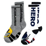 Transformers BumbleBee Crew Length Socks Size 6/8 - 144 Pk Lot (2 pair pack)