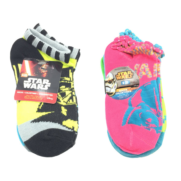 Assorted Disney Star Wars Ankle Socks - 96 Pk Lot (6 pair pack)