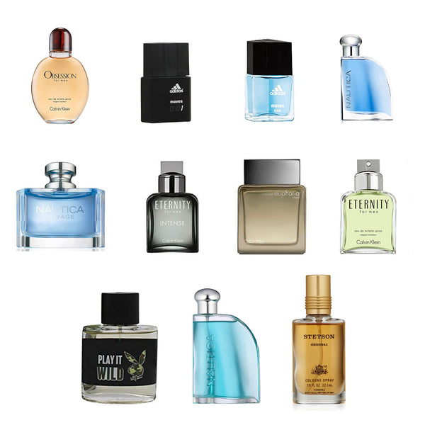 Assorted Men's EDT 0.5 fl oz Mini Fragrance - 100 pcs Lot