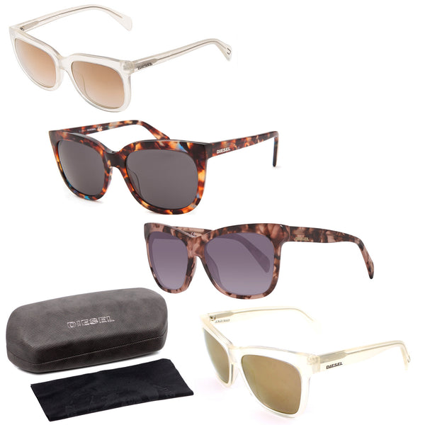 Diesel Sunglasses Assorted Colors and Styles w/ Case - 4 pc Lot