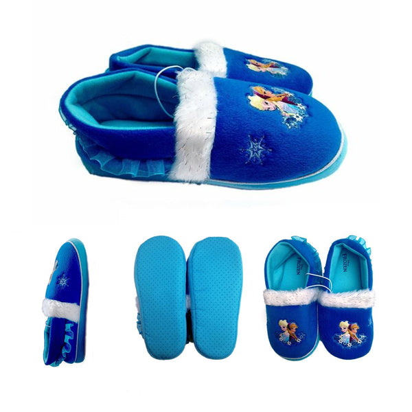 Girl's Disney Frozen Elsa & Anna Cozy Slide Slippers - 432 Pc Lot