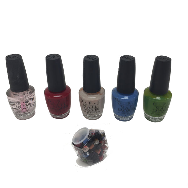 OPI Nail Lacquer and Base Coat Assorted Colors  0.5 Fl Oz  - 54 Pcs Lot