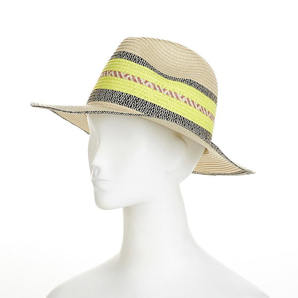 Straw Studios Neon Stripe Fedora - 36 pc Lot