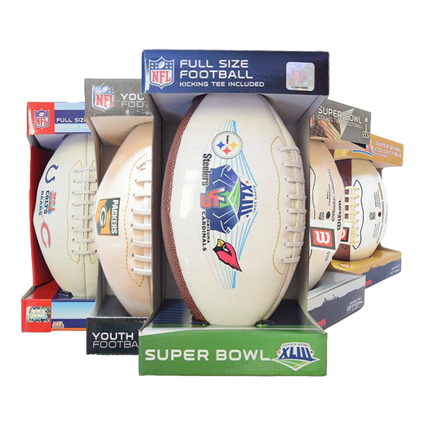 Superbowl Collectible Footballs - 5 pc Lot