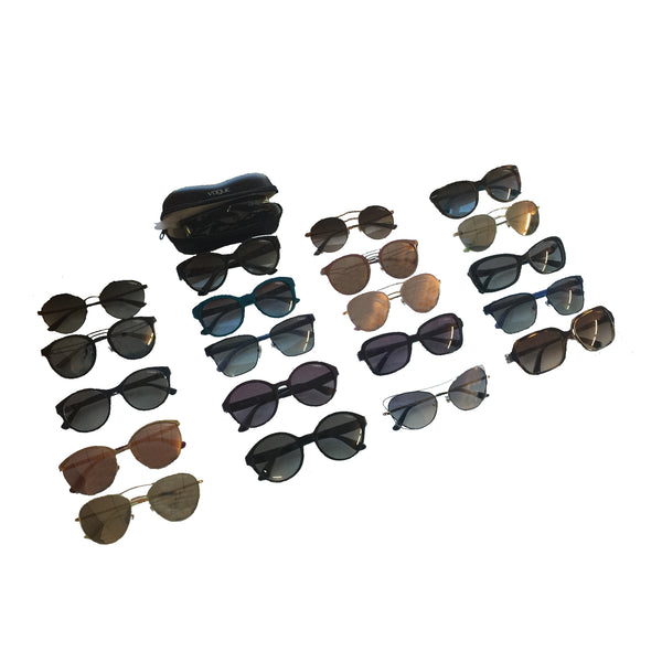Vogue Assorted Designer Sunglasses With Cases - 20 Pc Lot