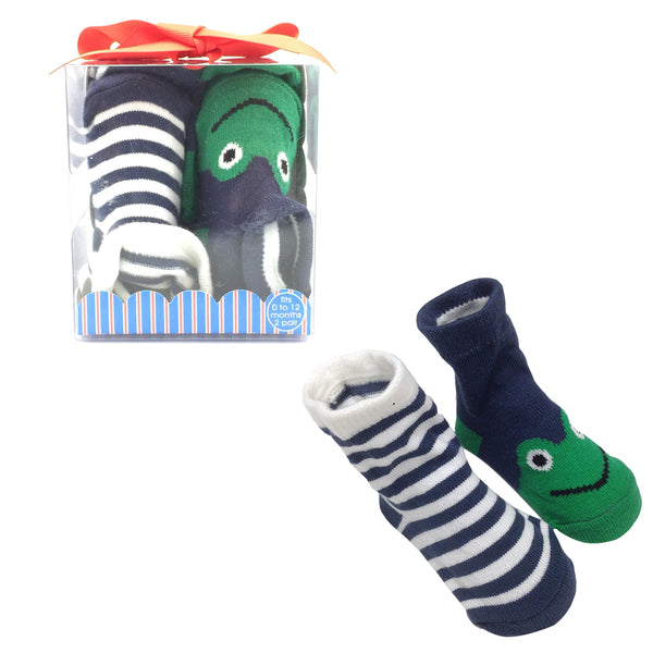 Baby Deer Infant Socks Gift Sets - 72 Set Lot (2 pair set)