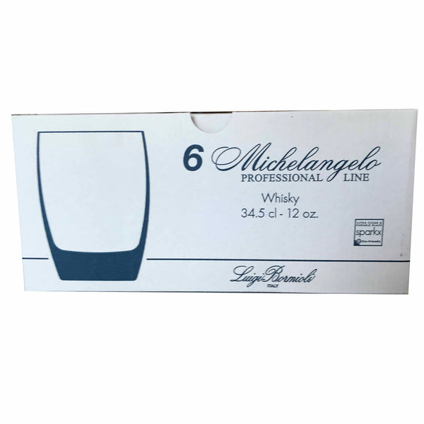 6 Pc Set of Luigi Bormioli Double Old Fashioned Glasses 12 Oz - 4 Set Lots