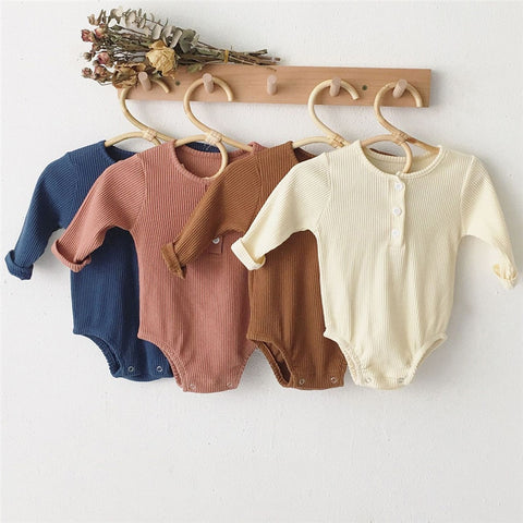 Oliver Long Sleeve Ribbed Onesie