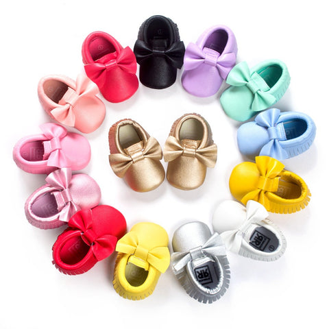 Soft Soled Bow Moccs