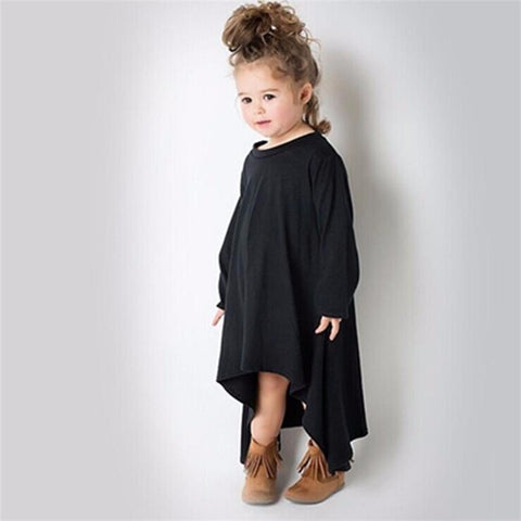 Fall High Low Dress 2T-6