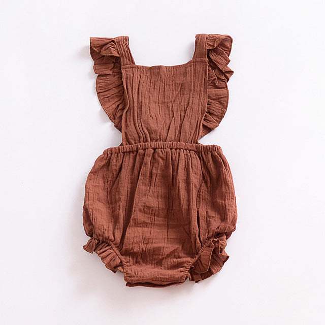 Ruffle Sleeve Bubble Romper