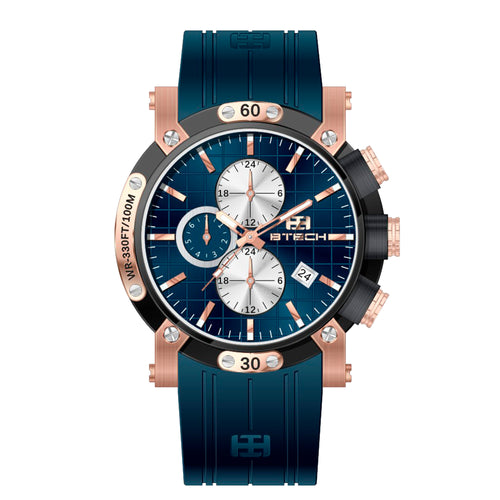 Btech Atelier Blue Rose Gold Men Watch (BT-AT-632-04)
