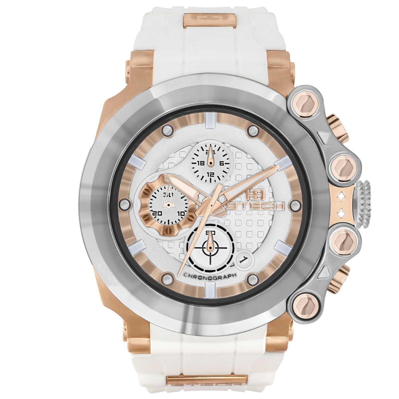 BTECH Cite Chrono White Unisex Watch (BT-CC-331-01)