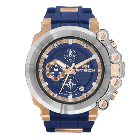 Cite Chrono White Blue Unisex Watch (BT-CC-343-01)