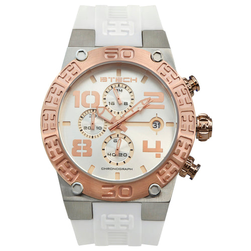 BTECH BT Chrono White Unisex Watch (BT-IB-313-01)