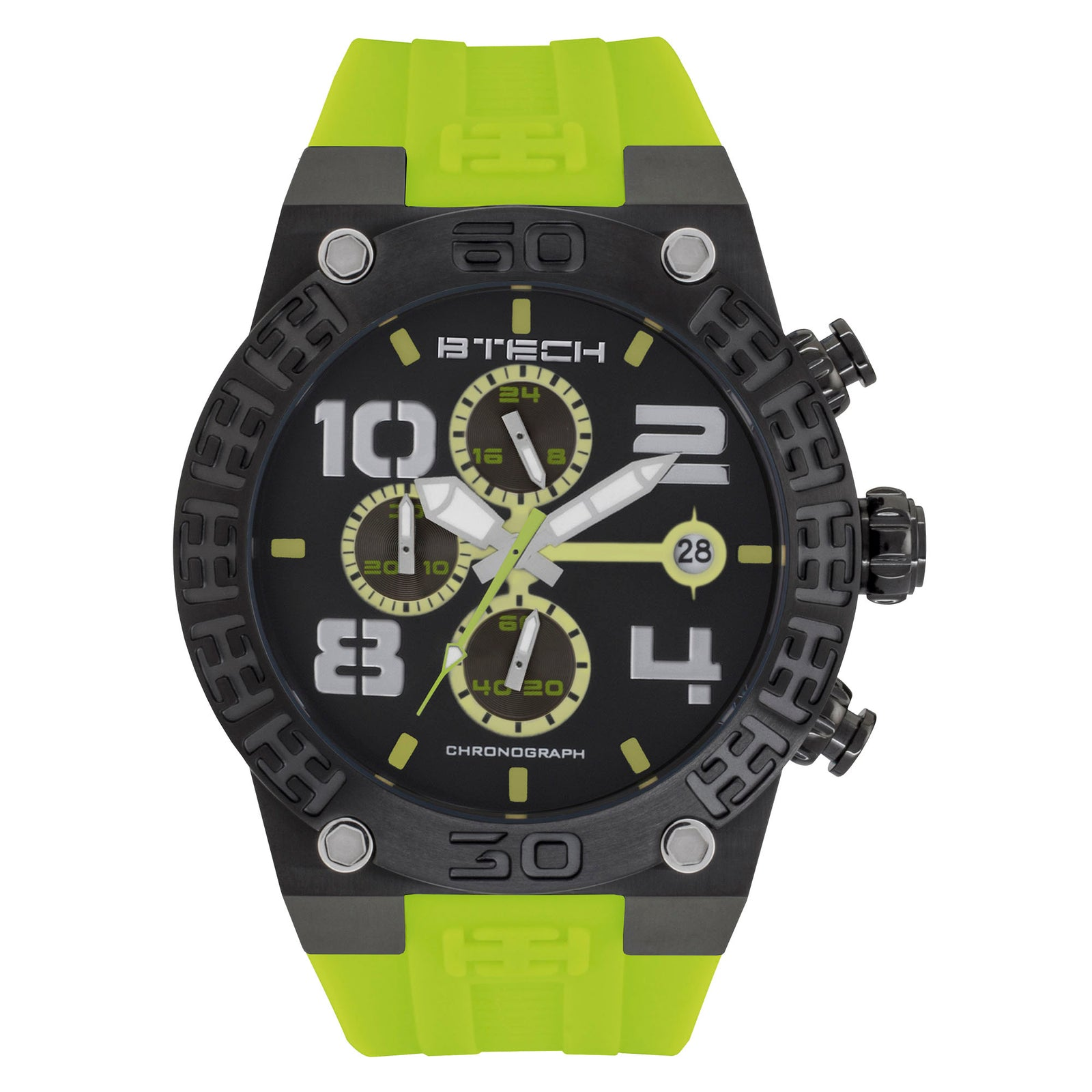 BTECH BT Chrono Lime Green Unisex Watch (BT-IB-322-05)
