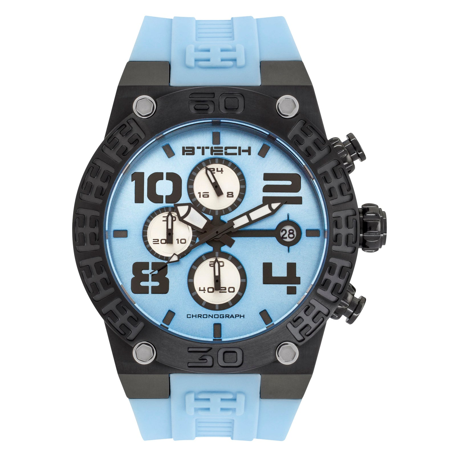 BTECH BT Chrono Light Blue Unisex Watch (BT-IB-322-11)