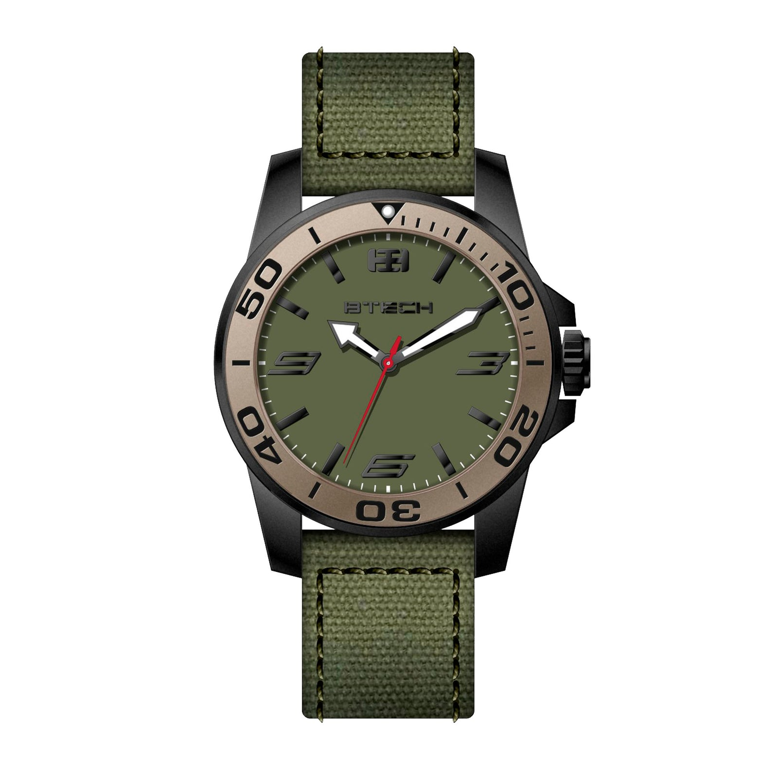 Commander Green Men Watch (BT-CO-126-77)
