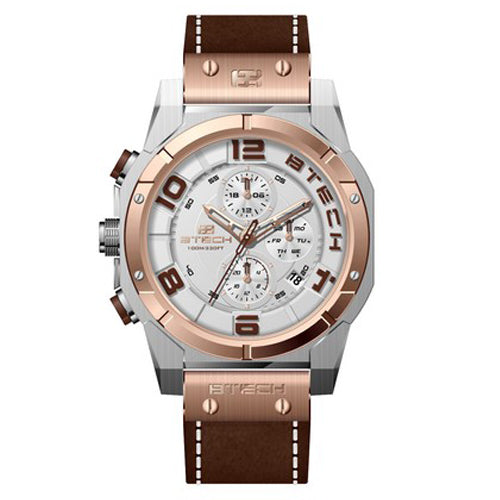 BTECH Cite II Chrono Brown Rose Gold Men Watch (BT-NC-613-56)