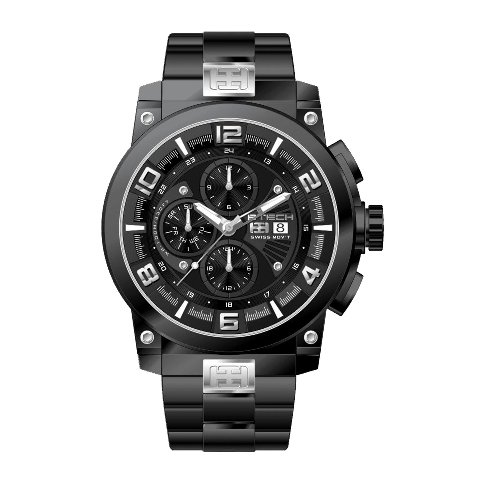 Delta Black Men Watch (BT-CD-622-02)