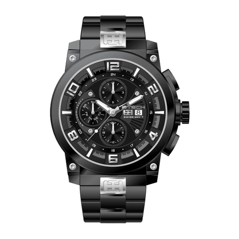 Delta Black Silver Men Watch (BT-CD-612-01)