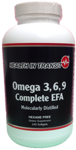 Omega 3, 6, 9 Complete EFA (Fish Oil, Borage Oil, Flax Oil) - 240 Softgels (80 day supply)