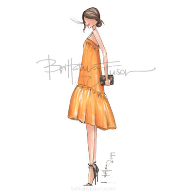 Brittany Fuson, fashion illustration, summer style, trends