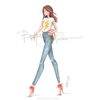Brittany Fuson, fashion illustration, grl pwr