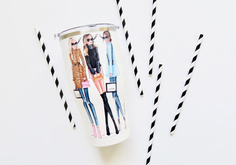 Brittany Fuson, fashion illustration, Orca tumblers
