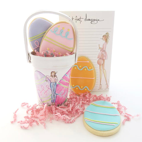 Brittany Fuson, ellenJay cookies, fashion illustration, Easter eggs