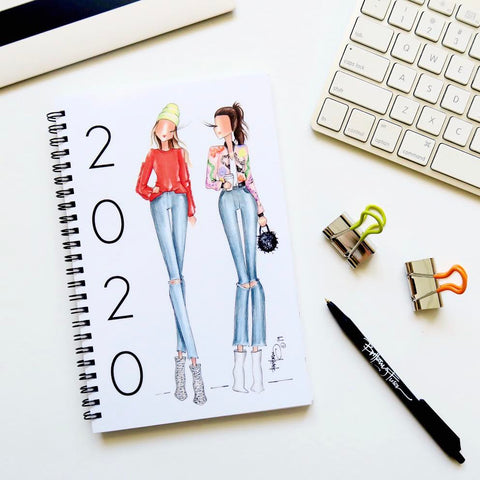 Brittany Fuson, fashion illustration, 2020 planner, new arrivals