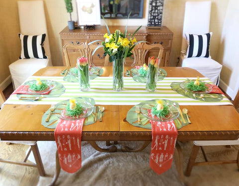 Easter table, Brittany Fuson, fashion illustration, bandanas