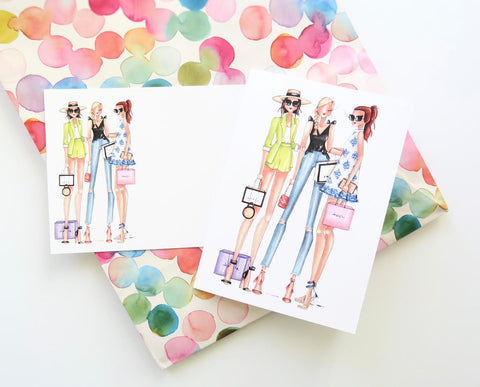 Brittany Fuson, fashion illustration, birthday sale, gal pals
