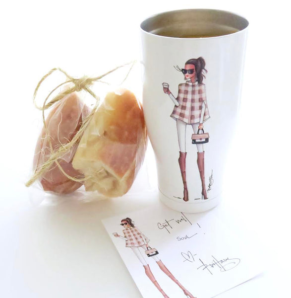 Blair, Orca cups, notecards, get well soon, soup, food & drink, fashion illustration, Brittany Fuson