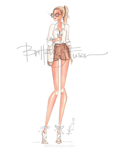 Brittany Fuson, fashion illustration, almond milk, latte