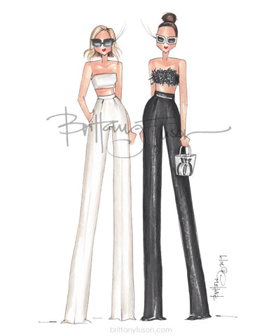 Brittany Fuson, fashion illustration, crop tops, summer