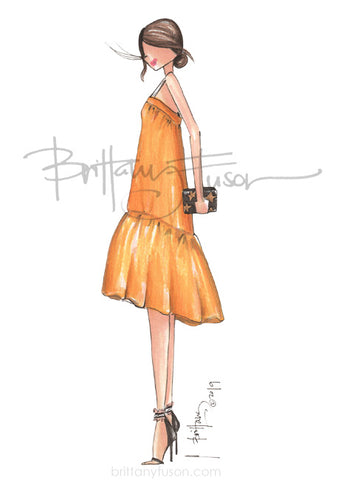 Brittany Fuson, fashion illustration, summer style