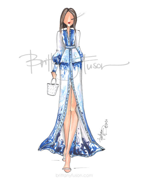 Brittany Fuson, summer, fashion illustration