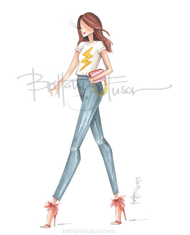 Brittany Fuson, grl pwr, fashion illustration