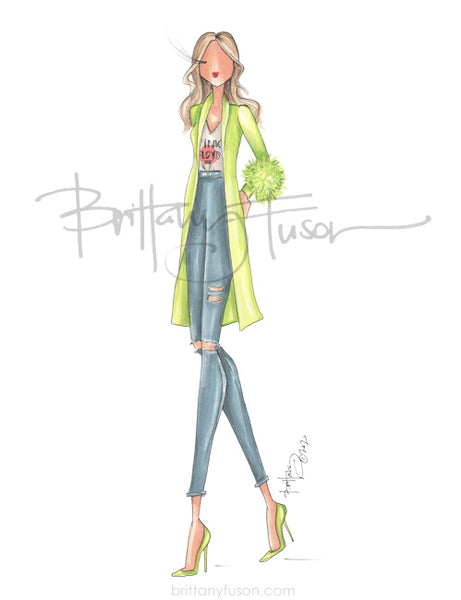 Brittany Fuson, fashion illustration, spring trends