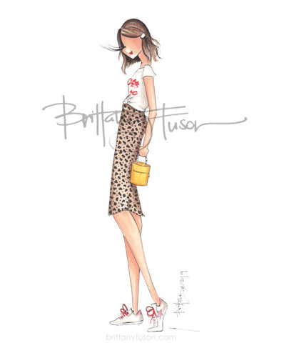Brittany Fuson, fashion illustration, trends, leopard