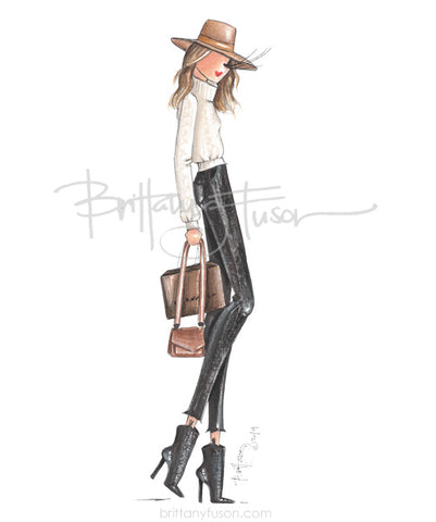 Brittany Fuson, fashion illustration, fall style