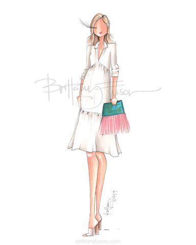 Brittany Fuson, fashion illustration, summer