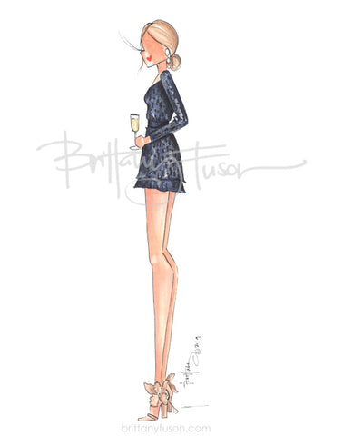 Brittany Fuson, fashion illustration, best dressed guest